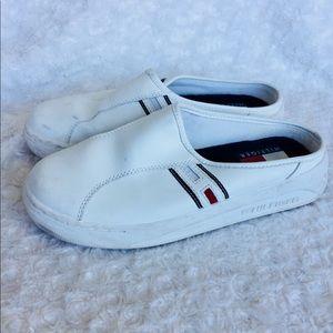Tommy Hilfiger Slip On White Leather Women's Shoe